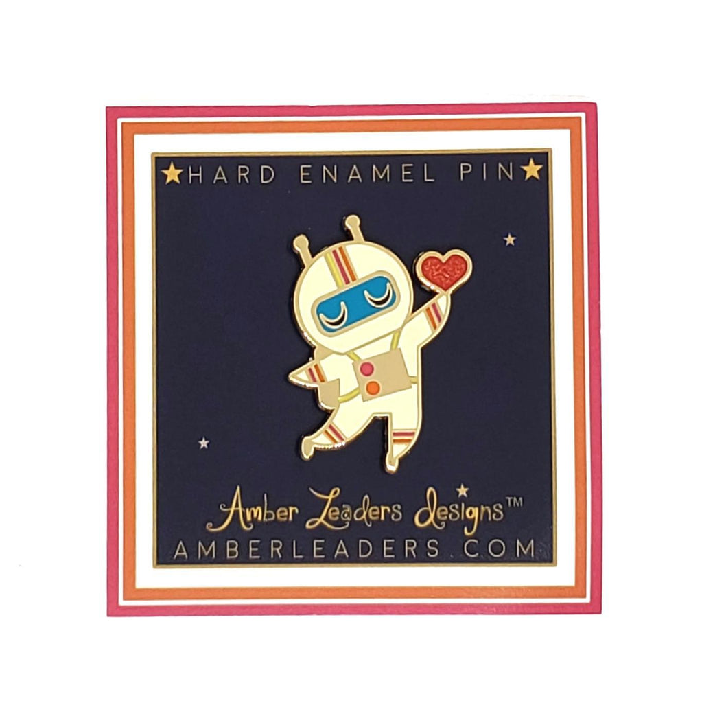Enamel Pin - Astronaut Heart by Amber Leaders Designs