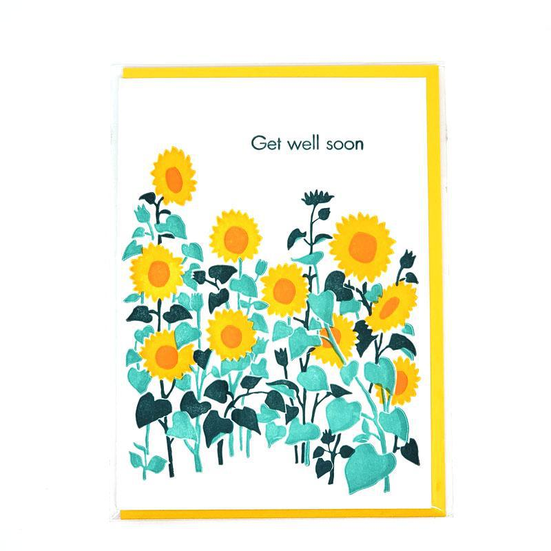 Card - Get Well - Sunflowers Get Well Soon by Ilee Papergoods