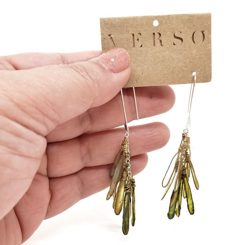 Earrings - Med Ombre Moss Dragonfly by VERSO