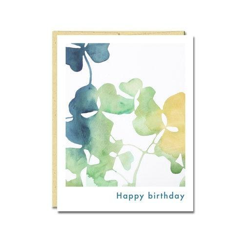 Card - Birthday - Oxalis by Rachel Austin Art