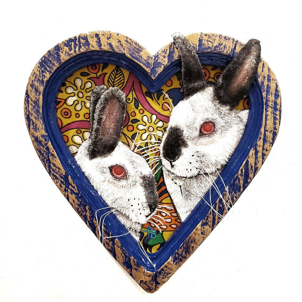 Framed Applique Art - Bunny Pair by Alise Baker of Chubby Bunny