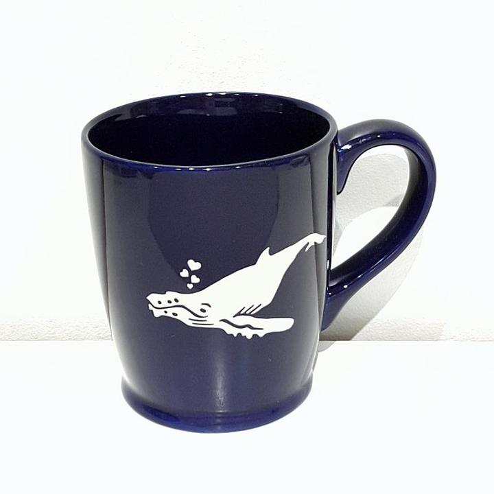 Mug - 16oz Navy Humpback Whale by Bread & Badger