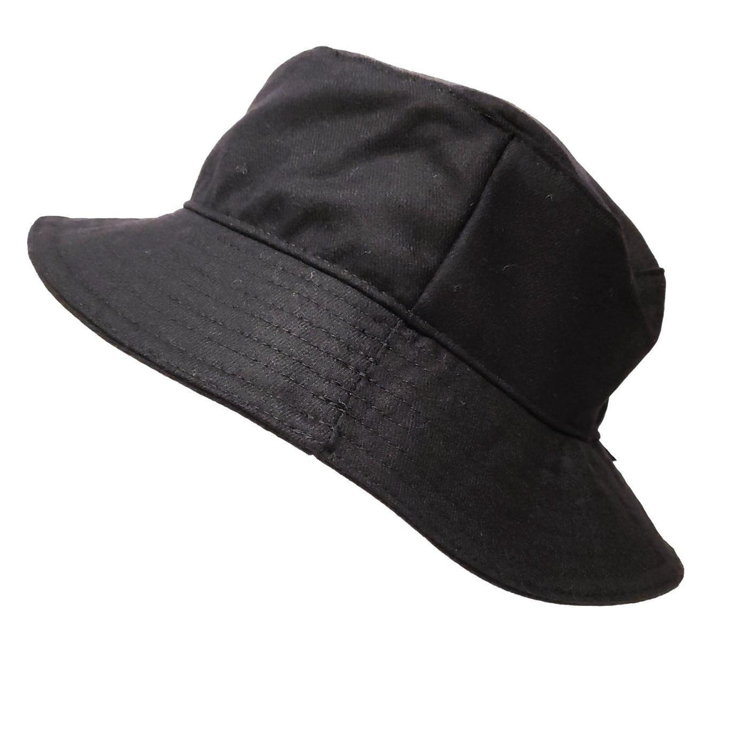 Bucket Hat  - Vega - Solid Black - Premium Wool by Flipside Hats