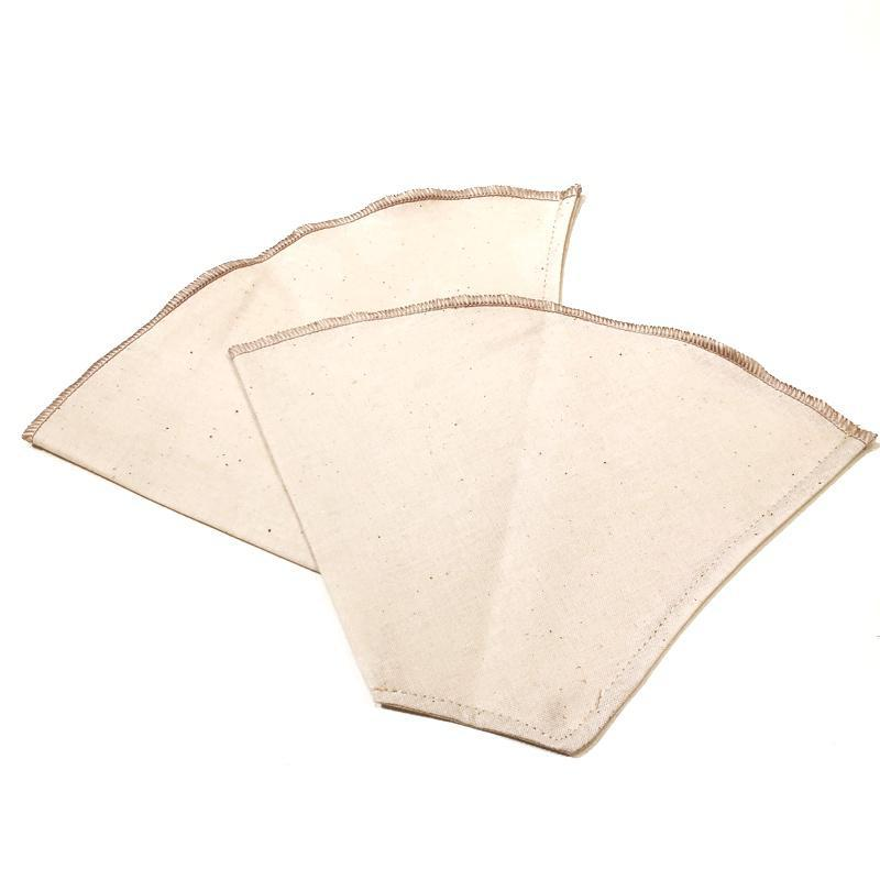 Coffee Cone Filters - Size 4 Reusable Organic Cotton (Set of 2) by Dot and Army