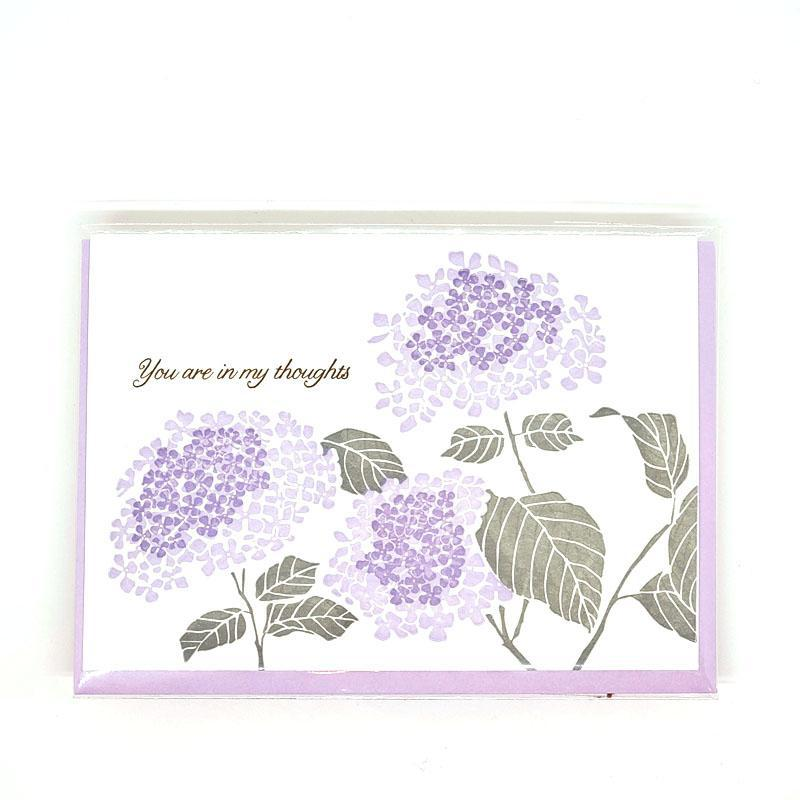 Card - Sympathy - Hydrangea In My Thoughts by Ilee Papergoods