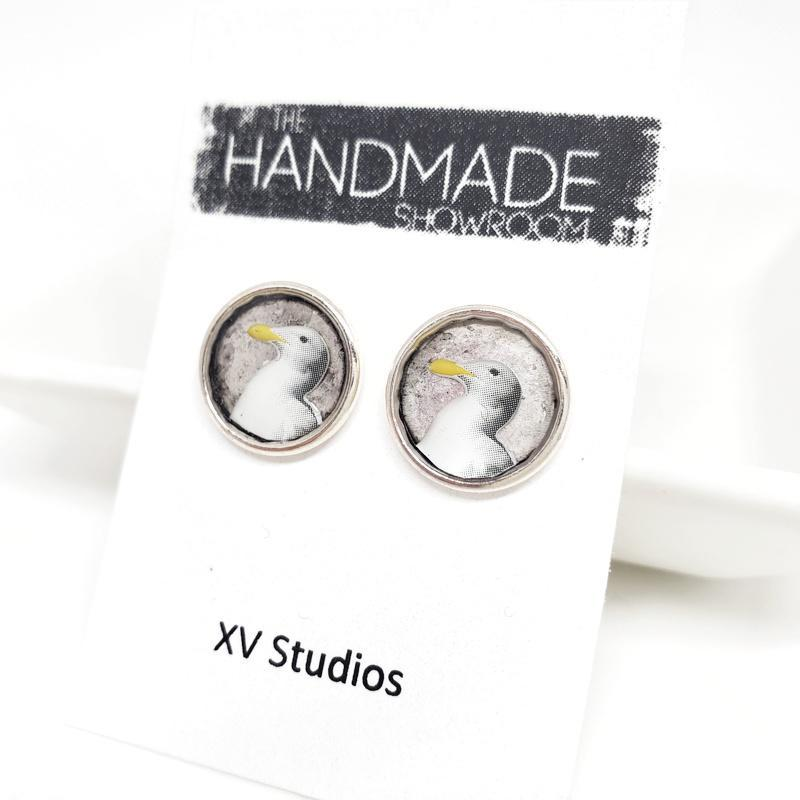 Earrings - Seagull Studs by XV Studios