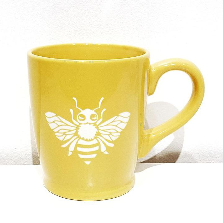 Mug - 16oz Yellow Bee by Bread & Badger