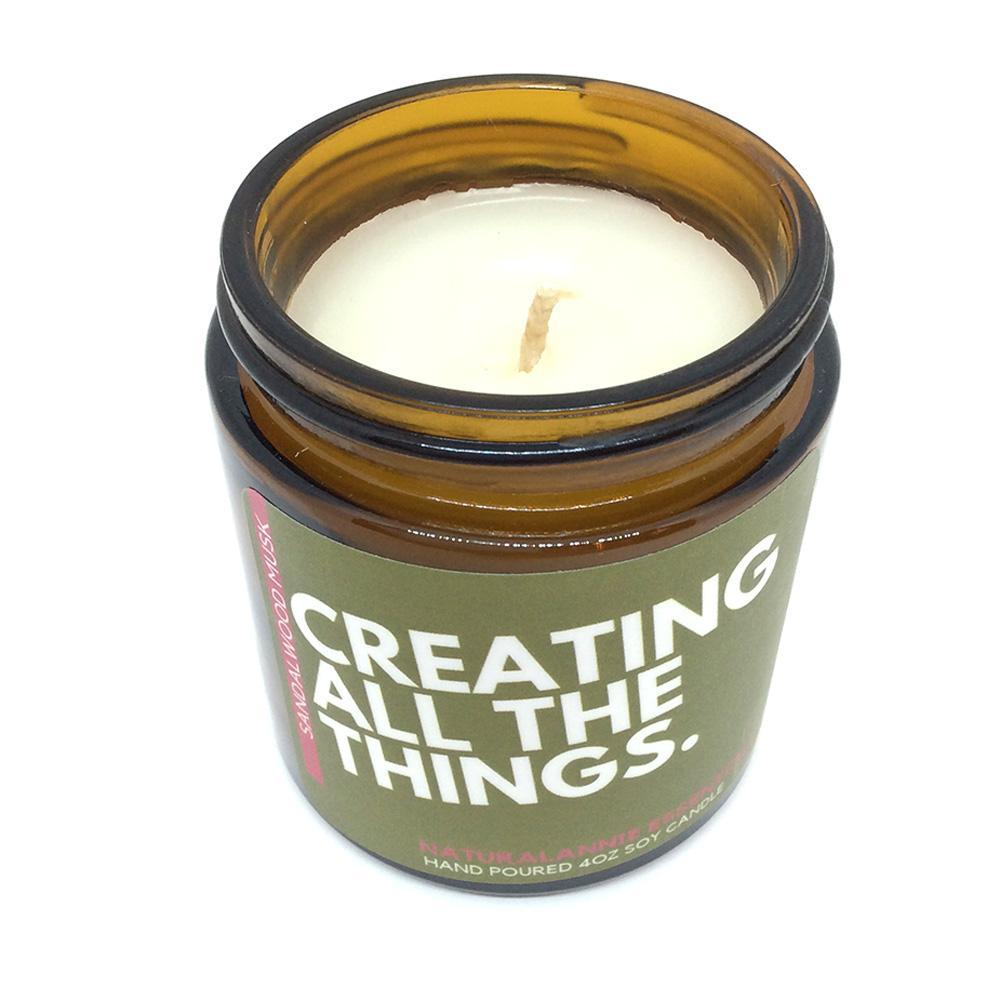 Candle 4oz - Creating All The Things by NaturalAnnie Essentials