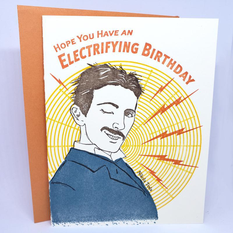 Card - Birthday - Tesla Electrifying Birthday by Ilee Papergoods