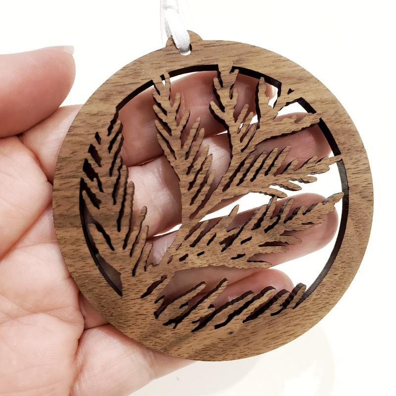 Ornaments - PNW Cedar Leaves by 6 by 6 Arts