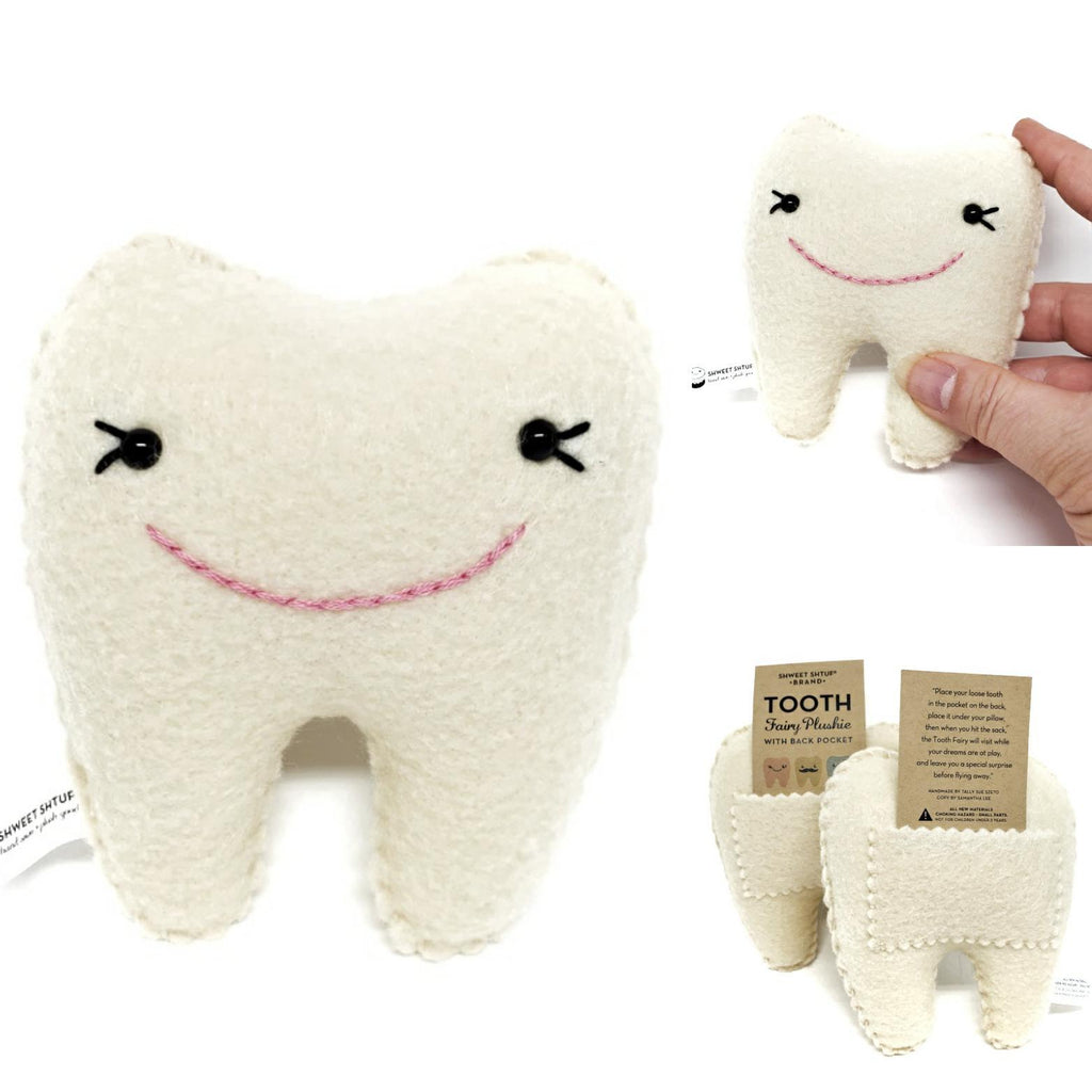 Plush - Tooth Fairy Pillow (with eyelashes) by Shweet Shtuf