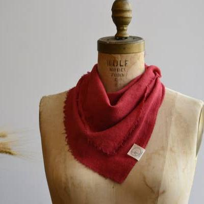 Bandana - Poppy Red Solid by Eco Raw Studio