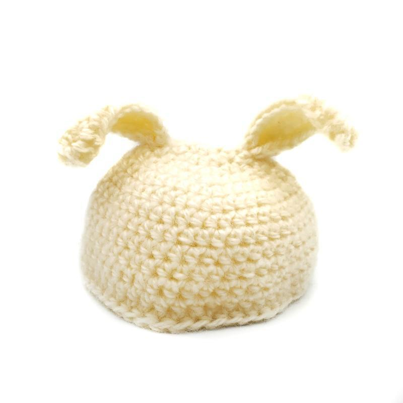 Toddler Hat - White Cream Rabbit By Scary White Girl
