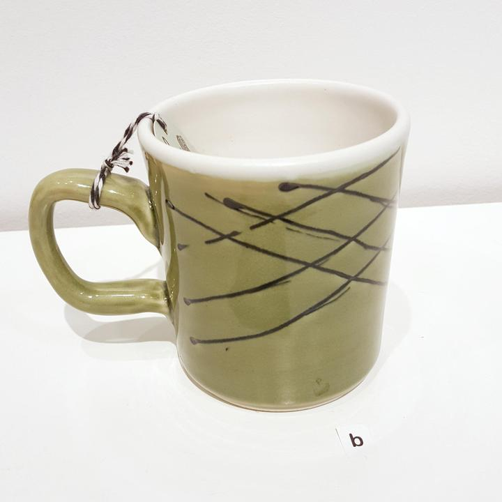 Mug - Green Lines by Flux Ceramics