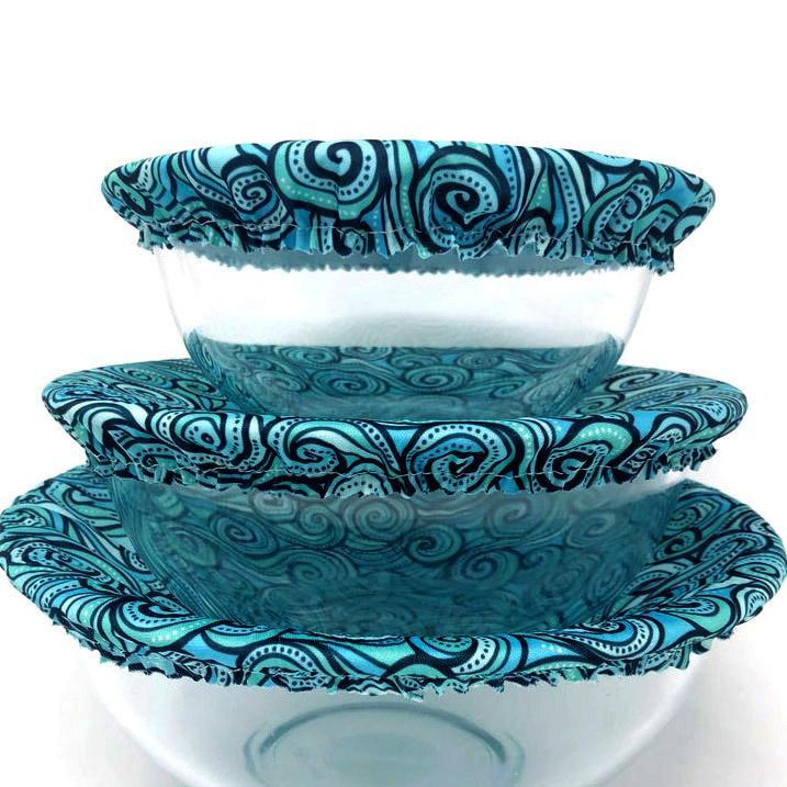 Bowl Covers - Ocean Waves Set of 3 by Semi-Sustainable Goods