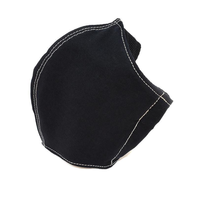 Large - Black Shell White Topstitch Black Lining by imakecutestuff