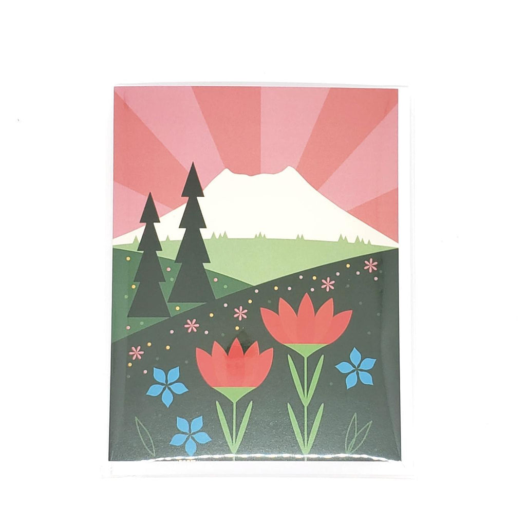 Card - Mount St. Helens  by Amber Leaders Designs