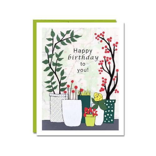 Card - Birthday - Plants by Rachel Austin Art