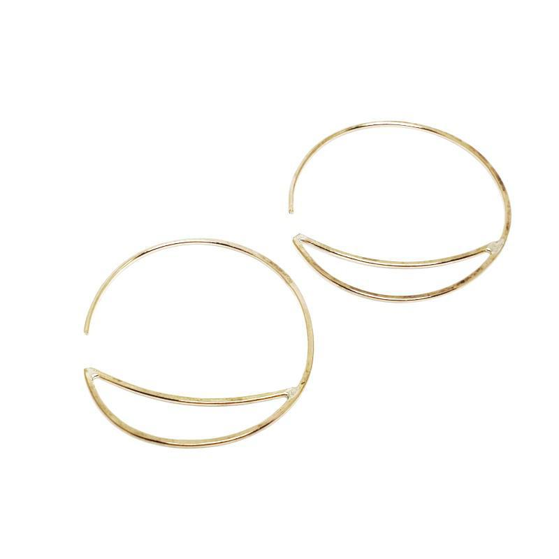Earrings - Small Bridge Hoops Gold Fill by Verso Jewelry