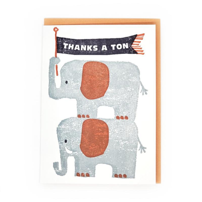 Card - Thank You - Elephants Thanks by Ilee Papergoods
