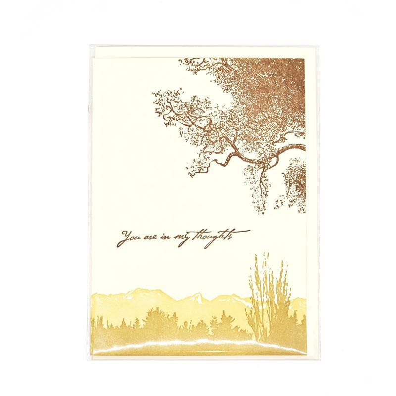 Card - Sympathy - Trees In My Thoughts by Ilee Papergoods