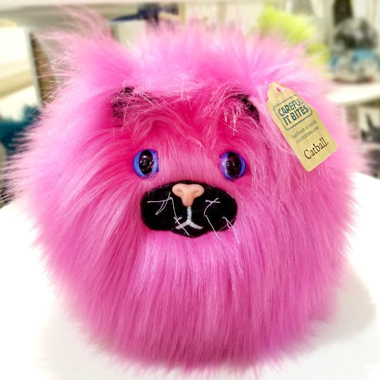 Catball - Hot Pink with Blue Eyes by Careful It Bites