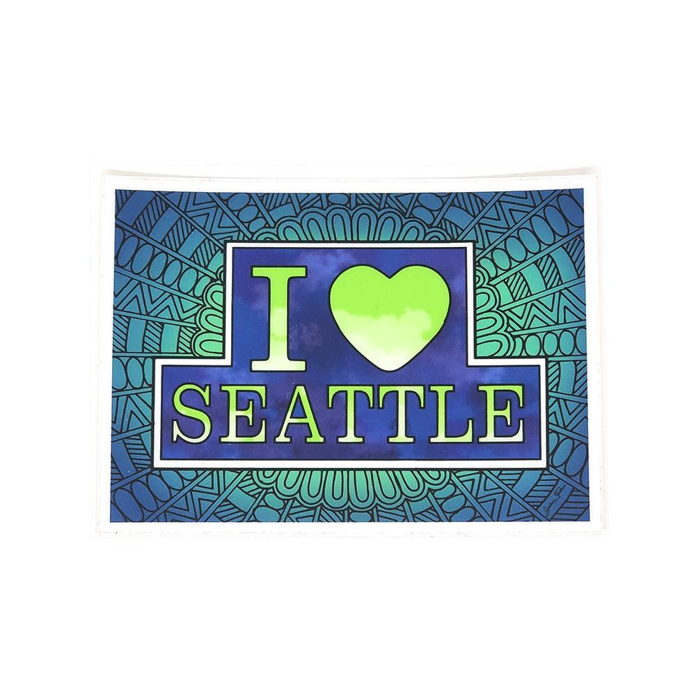 Sticker - I Love Seattle by The Coloring Project