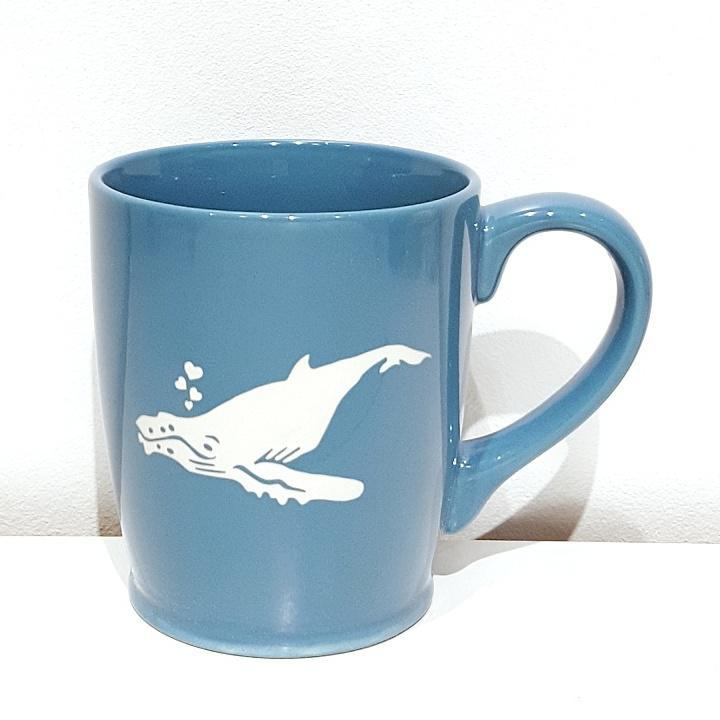 Mug - 16oz Sky Blue Humpback Whale by Bread & Badger