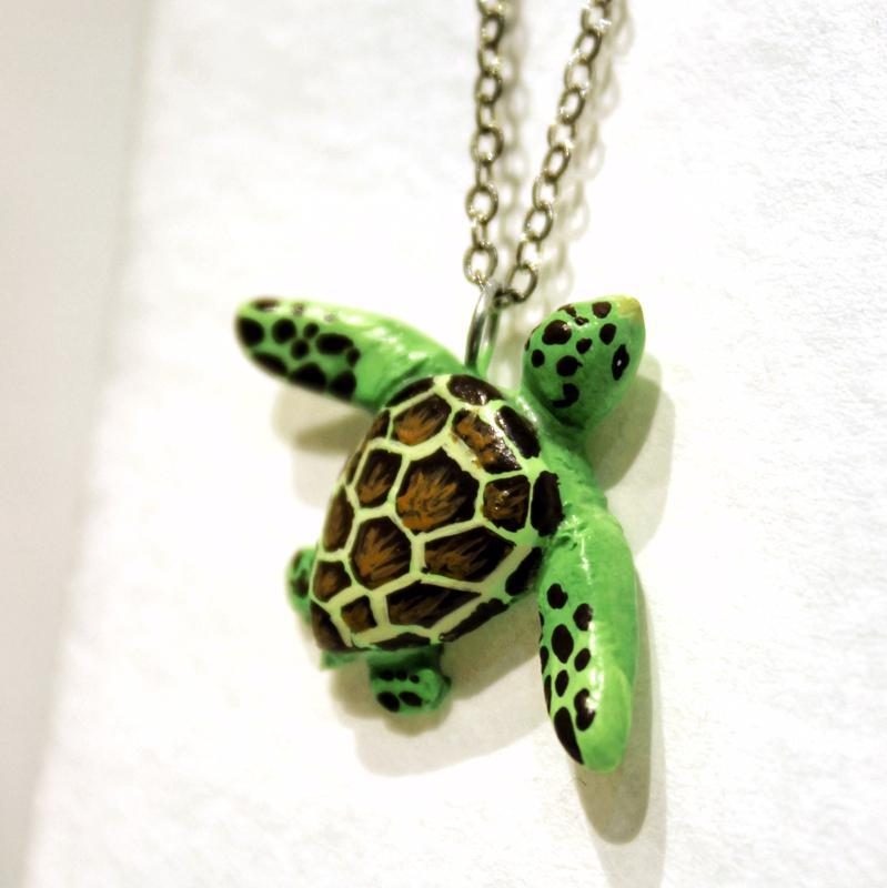Necklace - Baby Sea Turtle by Curious Burrow
