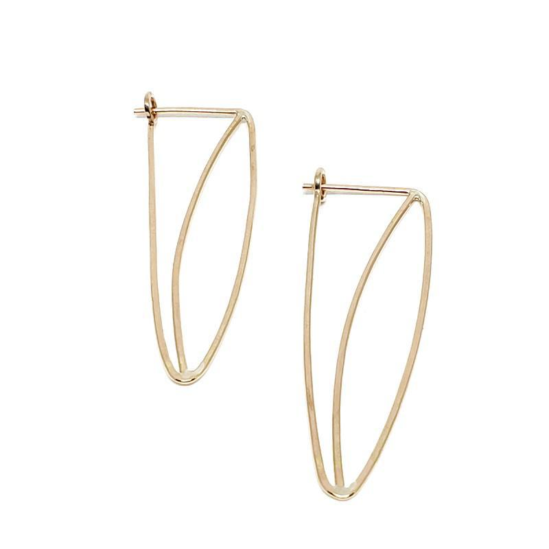 Earrings - Willow Gold Fill by Verso Jewelry