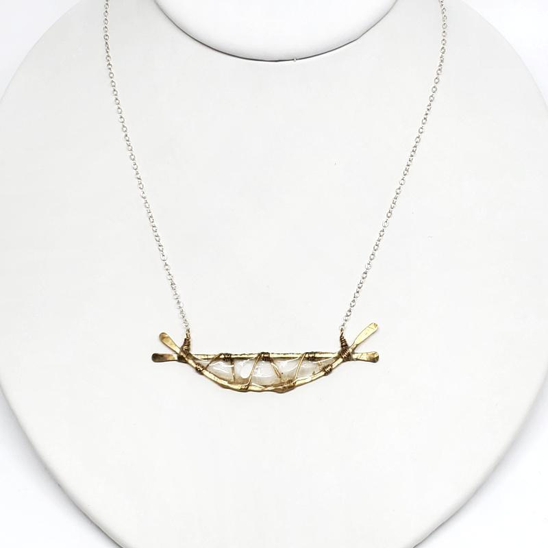 Necklace - Small Web Ivory by Verso