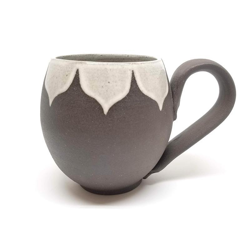 14oz Mug - White Moroccan by Foxtail Pottery