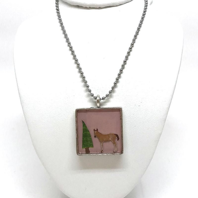 Pendant - Pink Filly by XV Studios
