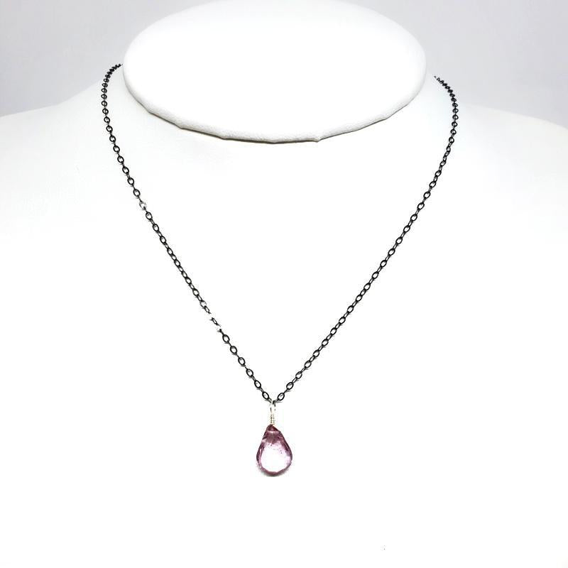 Necklace - Gemstone Pink Mystic Quartz by Foamy Wader