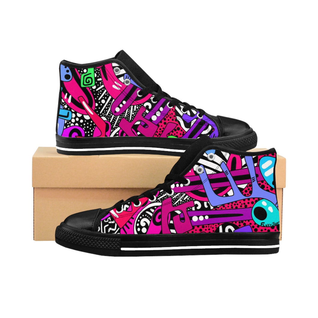 """Yes"" High-top Sneakers"