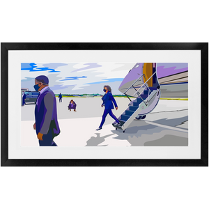 """Walking on Air (Force Two)"" Framed Prints"