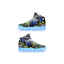 "Load image into Gallery viewer, ""Wonderland"" GLOW High Top"