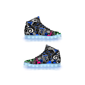 """Wonderland"" GLOW High Top"