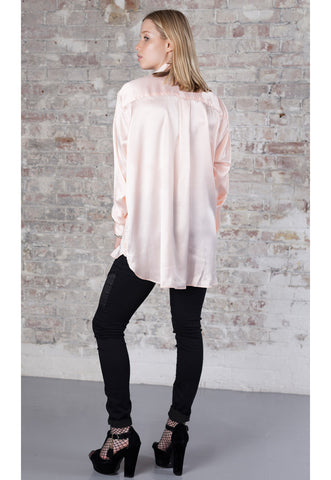 SOPHIA Peach Silk Feel Shirt