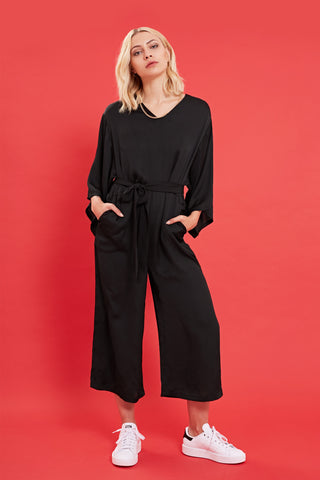 SASSY BEHAVIOUR Black Wide Leg Jumpsuit