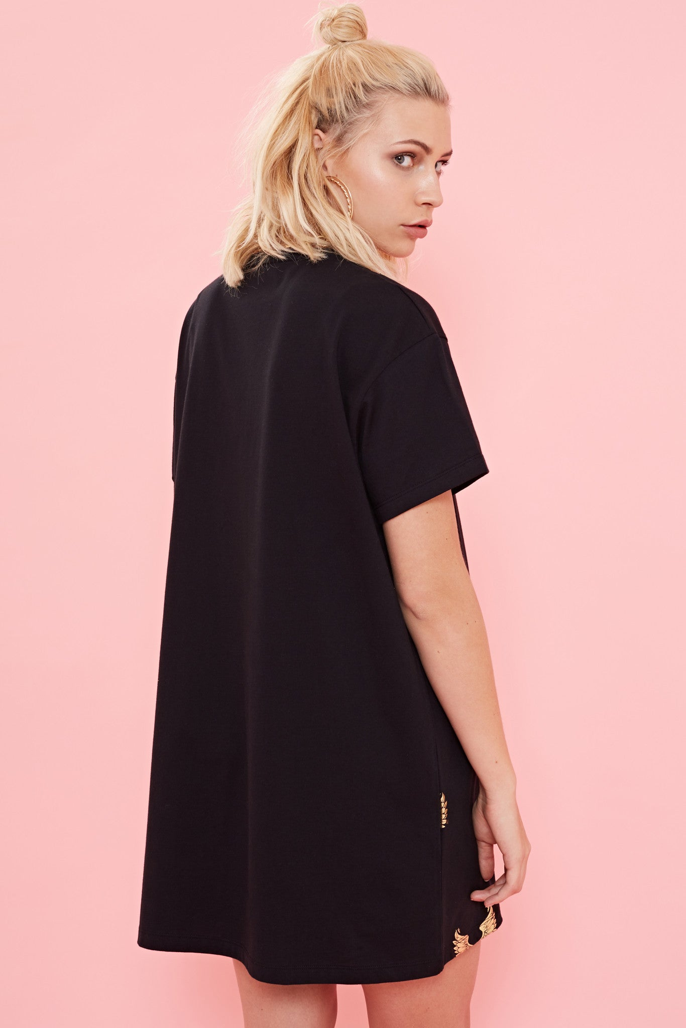 WINGING IT EMBROIDERED DRESS