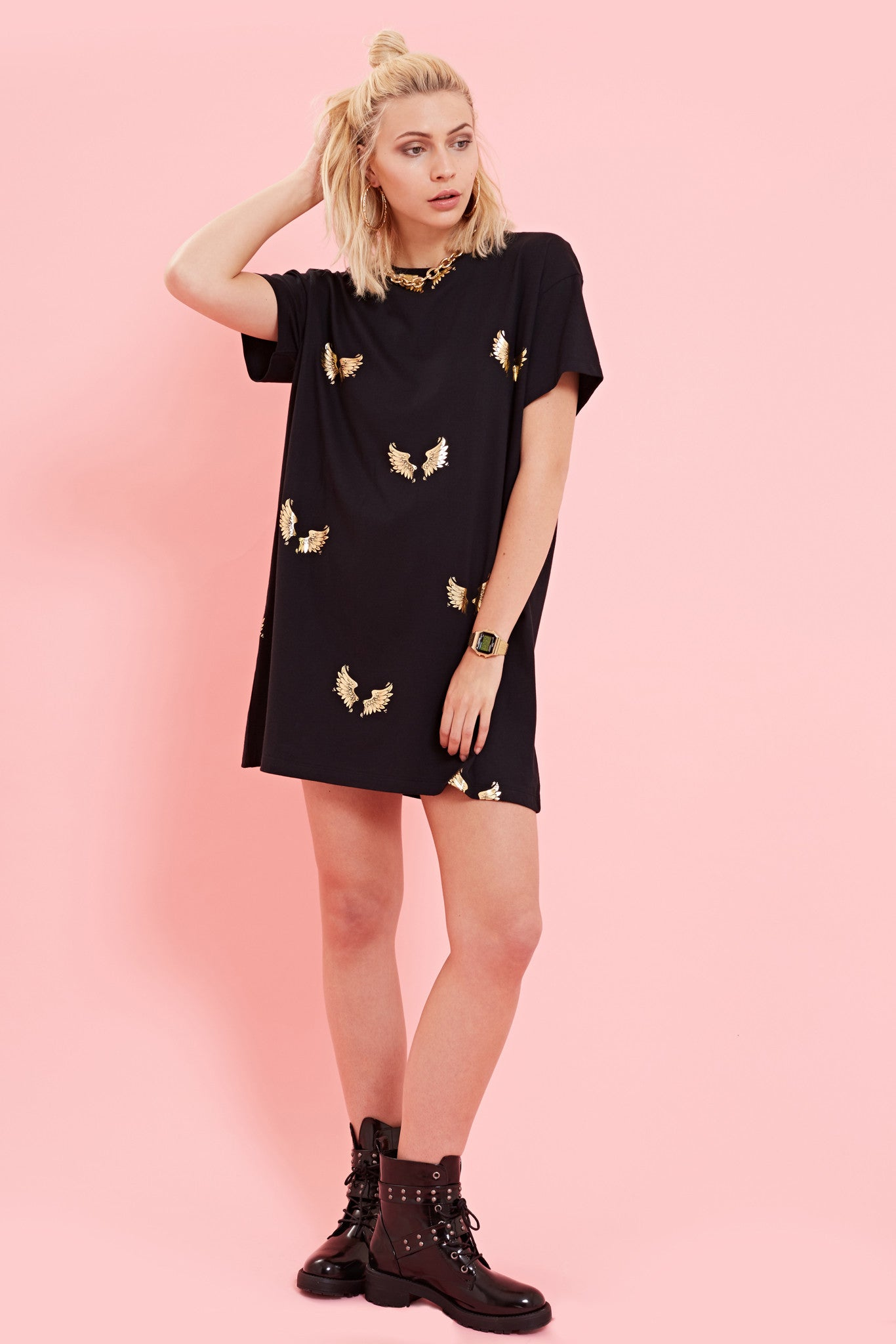 SO FLY WING PRINTED DRESS