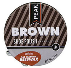 Small Brown Peak BeesWax Shoe Polish