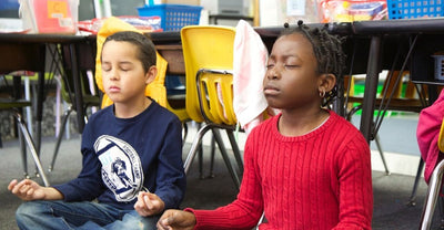 Yoga and Meditation Being Taught at the Robert W. Coleman Elementary School, Baltimore, Maryland