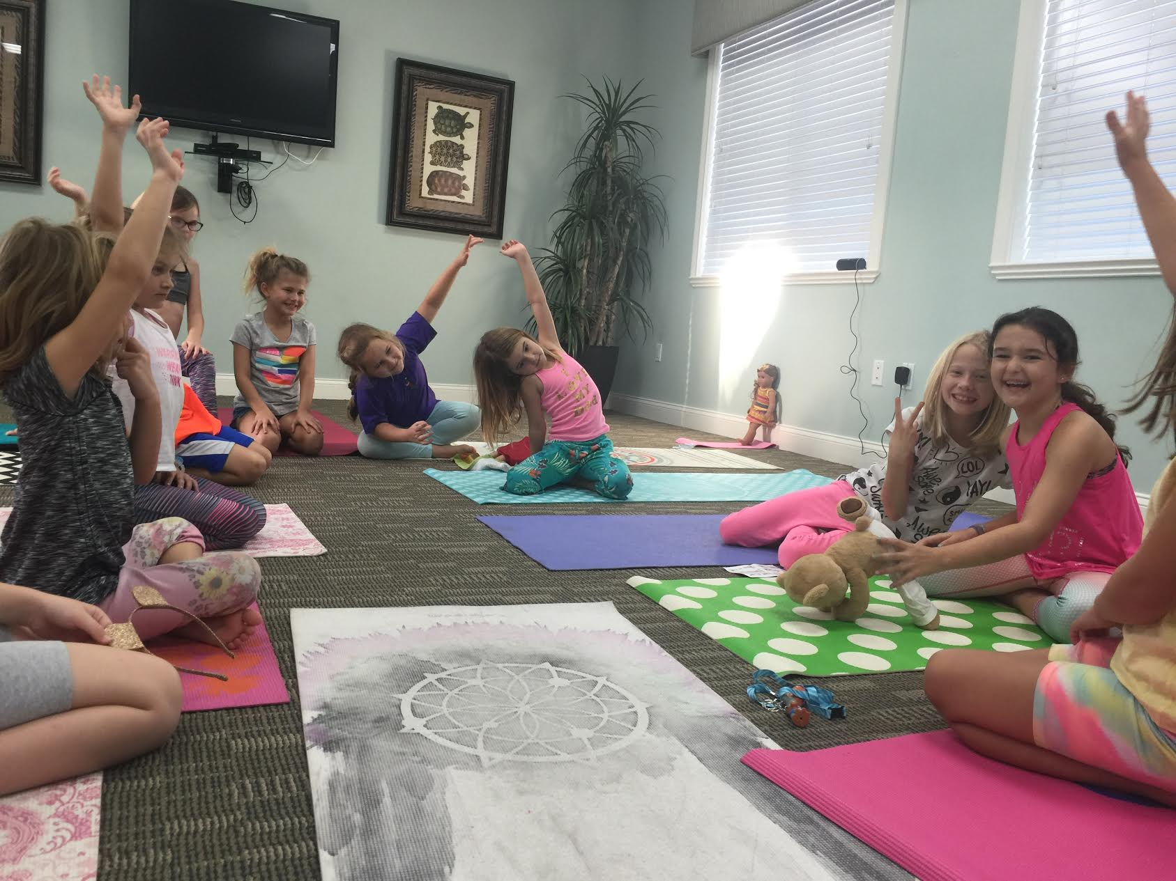 Children Learn Yoga and Meditation with Meddy Teddy