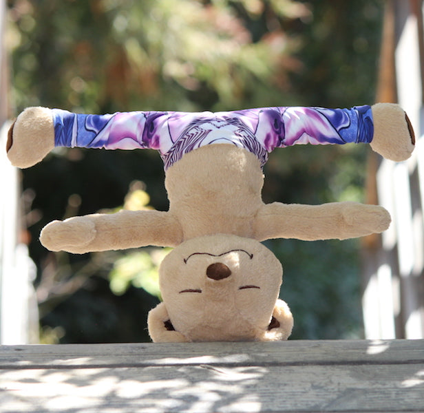 Headstand Pose with Meddy Teddy