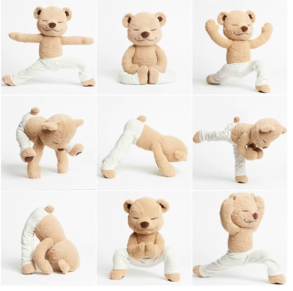 mindfulness meditation yoga teddy bear