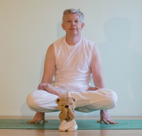 Strong Older Man Doing Yoga Meddy Teddy