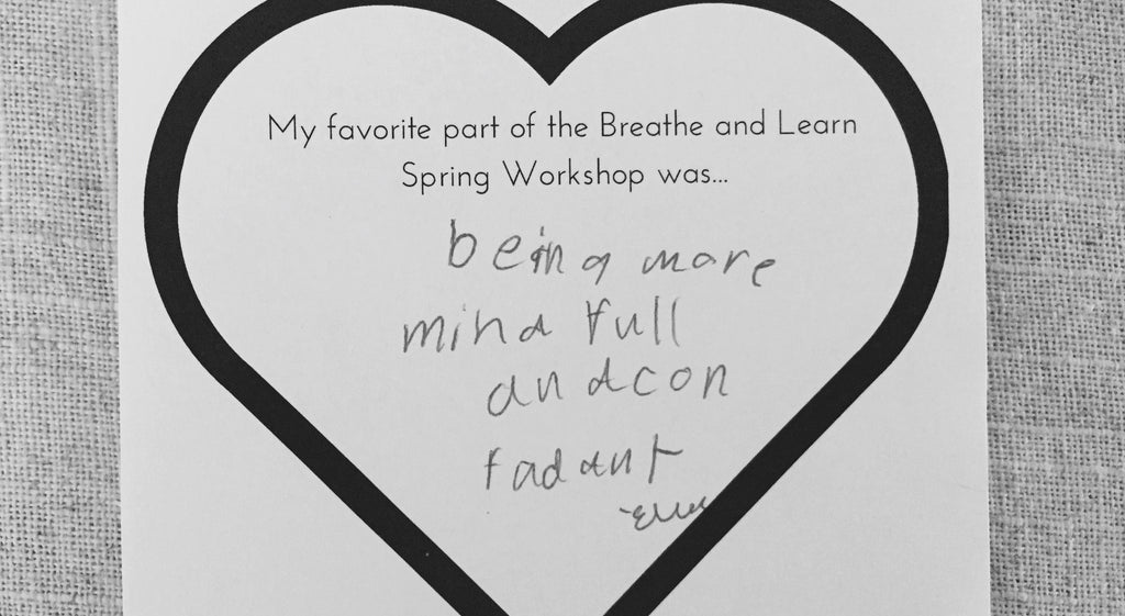 kids being mindful