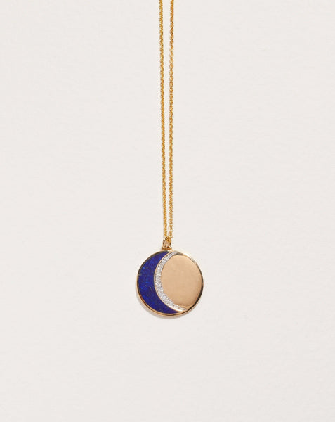 Pamela Love Inlay Moon Phase Pendant